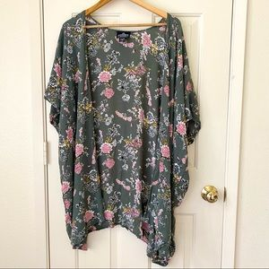 Angie Green and Floral Cardigan